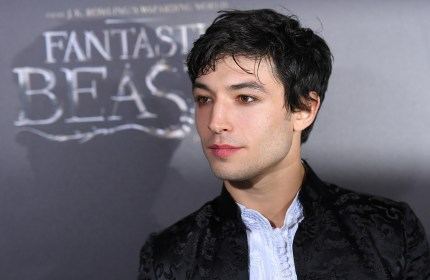 Polyamorous actor Ezra Miller attends the Fantastic Beasts and Where to Find Them world premiere