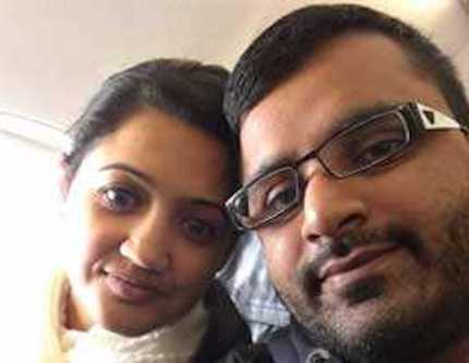 Defendant Mitesh Patel with his now deceased wife Jessica Patel