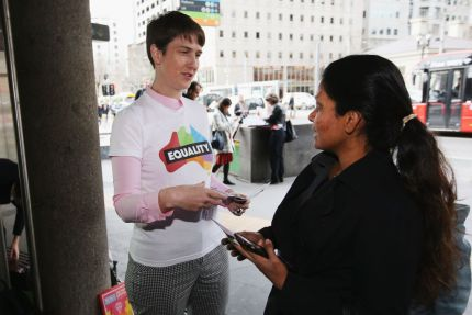 Anna Brown, CEO of Equality Australia. The group has been launched to fight for LGBT equality.