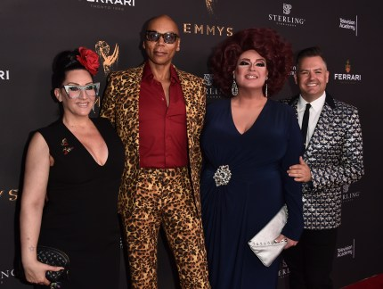 Tv personalities Delta Work and Ross Mathews, Michelle Visage and RuPaul, who will both be starring in RuPaul Drag Race UK, attend the Television Academy's Performers Peer Group Celebration.