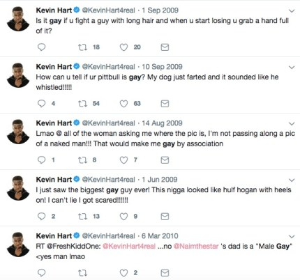 The tweets Kevin Hart wrote that sparked controversy around his Oscars hosting duties.