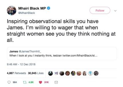 SNP's Mhairi Black takes down Twitter troll