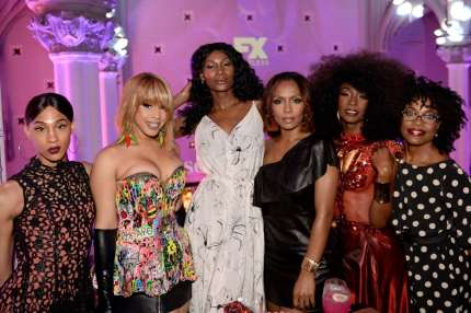 MJ Rodriguez, Hailie Sahar, Dominique Jackson, Janet Mock, Angelica Ross, and Charlayne Woodard at the FX 'Pose' Ball in Harlem