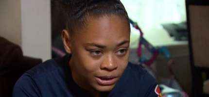 """Amari Graves, 15, who was the subject of an alleged anti-gay attack in Chicago which she said included the perpetrators calling her a """"dyke"""""""