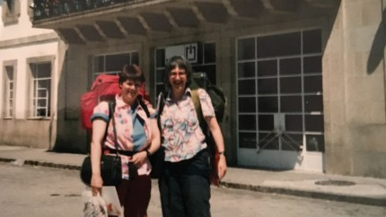 Older lesbian couple Liz and Gaby on holiday