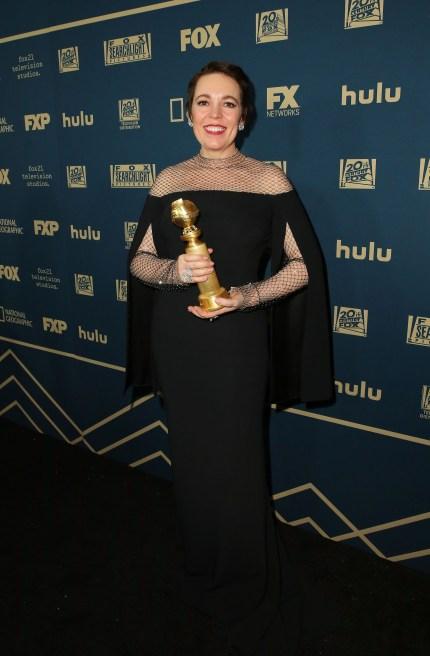 Golden Globes: Olivia Colman wins best actress