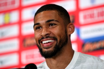 Ruben Loftus-Cheek of England talks to the media during the England Press Conference on June 15, 2018 in Saint Petersburg, Russia, during the 2018 World Cup