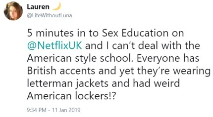"Some said they ""can't deal"" with the American-style school. (Twitter/@lifewithoutluna)"