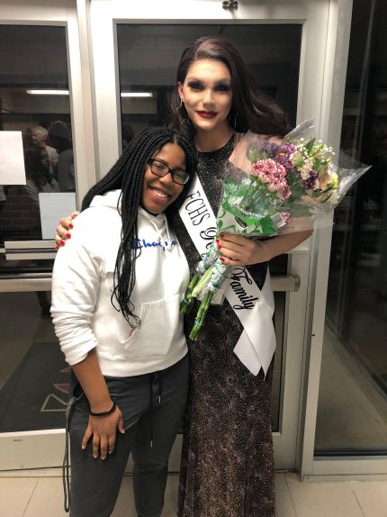 Trans homecoming queen Charlie Baum on the night she won the title on January 26 2019