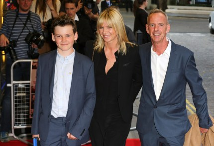 """Woody Cook, Zoe Ball and Norman Cook attend the UK Gala screening of """"Man Up"""" at The Curzon Mayfair on May 13, 2015 in London, England"""