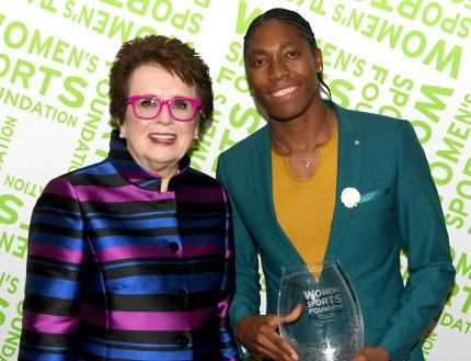 Photo of Billie Jean King and Caster Semenya, whom Martina Navratilova appeared to endorse in a retweet.