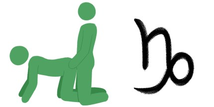 Best sex position for zodiac sign: Capricorn. Doggy style