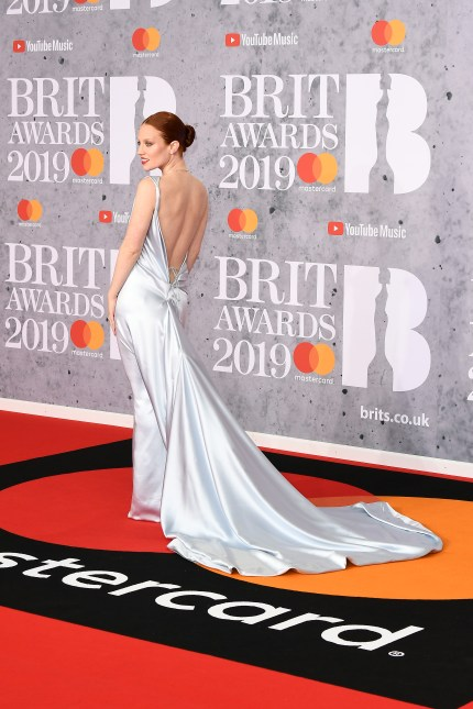 Jess Glynne at the BRITs