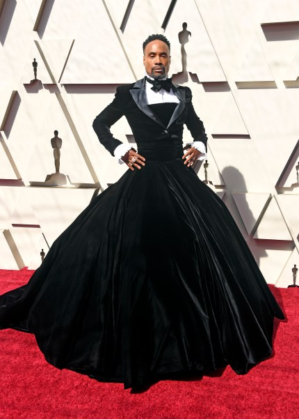 Billy Porter at Oscars 2019 in a tux dress.