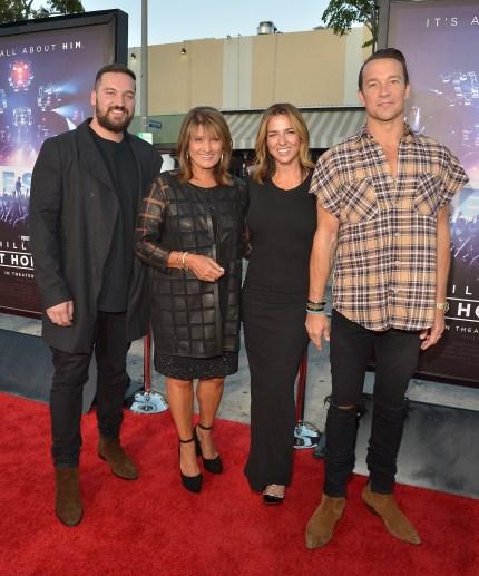 """Pastors Ben Houston, Bobbi Houston, Lauren Lentz Carl Lentz attend the """"Hillsong - Let Hope Rise"""" premiere at the Westwood Village theater"""