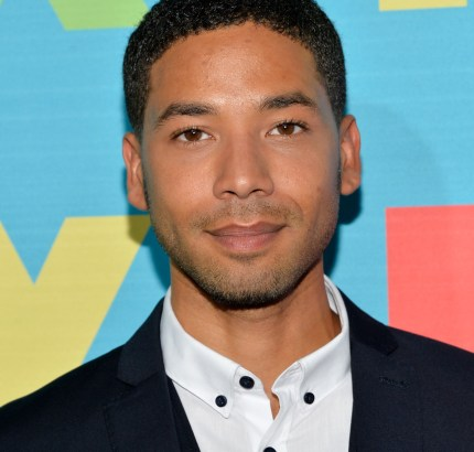 Actor Jussie Smollet attends the FOX 2014 Programming Presentation at the FOX Fanfront on May 12, 2014 in New York City.
