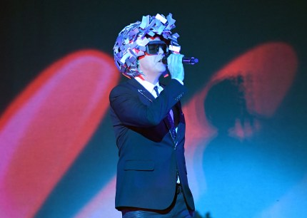 LGBT singers : Musician Neil Tennant of Pet Shop Boys performs onstage at The Theater at Madison Square Garden on November 12, 2016 in New York City.