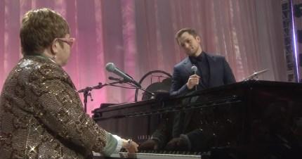 Rocketman star Taron Egerton duets with Sir Elton John