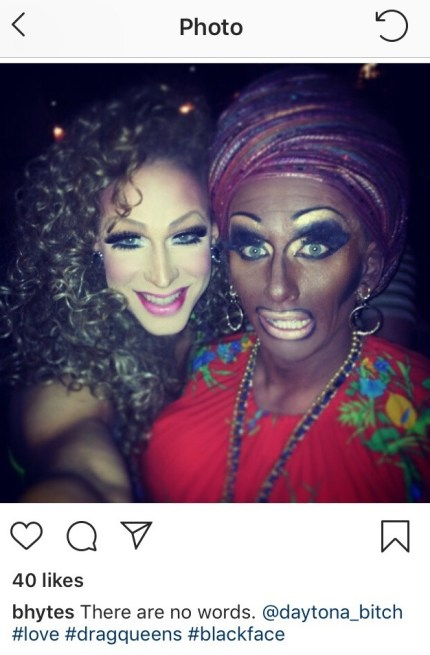 Brooke Lynn Hytes came under fire over her 2013 Instagram post that included the hashtags #love #blackface