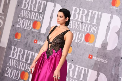 Dua Lipa attends The BRIT Awards 2019 held at The O2 Arena on February 20, 2019 in London, England.