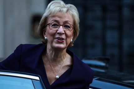 Leader of the House of Commons Andrea Leadsom arrives for a Cabinet meeting at 10 Downing Street on October 9, 2018 in London, England.