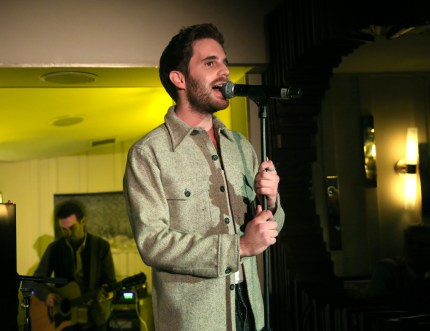 Ben Platt performs at the Ben Platt & Atlantic Records Album Listening Party on February 06, 2019 in Los Angeles, California.