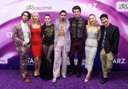 Tyler Posey, Karley Sciortino, Roxane Mesquida, Avan Jogia, Beau Mirchoff, Kelli Berglund, and Gregg Araki attend the 'Now Apocalypse' Los Angeles Premiere