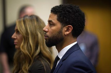 Empire actor Jussie Smollett spoke to the media after charges against him were dropped