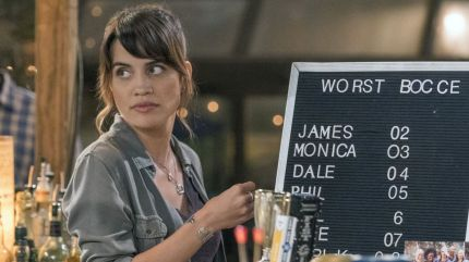 Natalie Morales playing Abby, just the second bisexual sitcom protagonist on network TV.