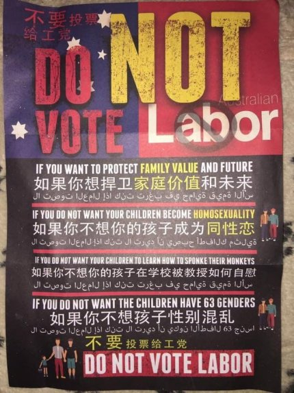 Reddit reacts to homophobic leaflets in run up to Sydney election.