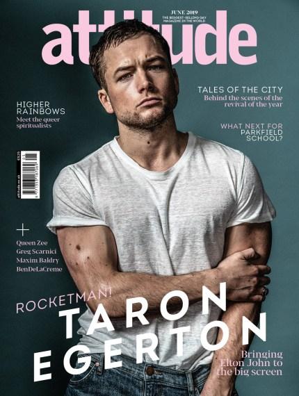 Taron Egerton on the cover of Attitude. (Attitude)