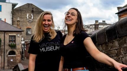 The Vagina Museum founder Florence Schechter (R) and volunteer Jasmine Evans (L).