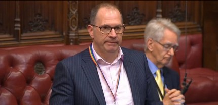 Liberal Democrat peer Lord Scriven spoke in the House of Lords about considering suicide
