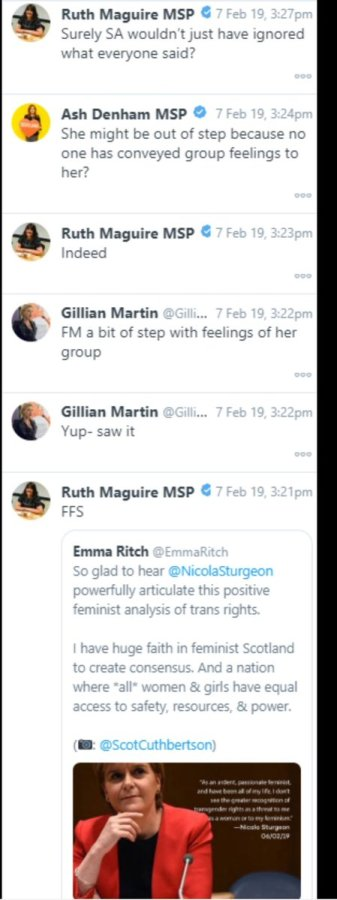 In leaked Twitter direct messages, several SNP MSPs criticised Nicola Sturgeon for comments in support of trans rights
