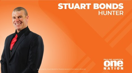 One Nation candidate Stuart Bonds