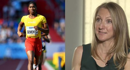 Caster Semenya and Paula Radcliffe