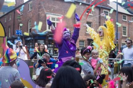 Donna Trump's 'sassy dragon' draws in crowds. (Emwa Jones)