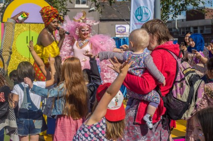 The drag show for kids aims to 'educate and enlighten' audiences. (Emwa Jones)