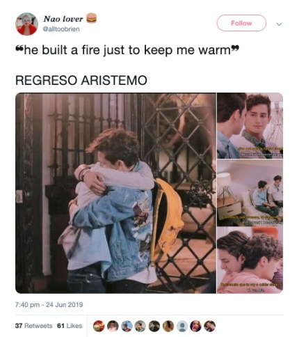 aristemo gay couple mexican telenovela