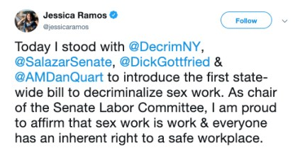 Jessica Ramos sex work twitter