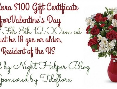 Teleflora $100 Gift Certificate for Valentine's Day #Giveaway {US | Ends 02/07}