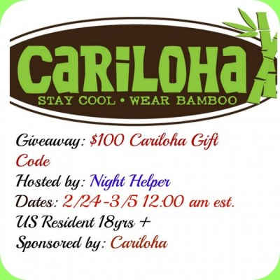 $100 CariLoha Gift Card Giveaway {US | Ends 03/04}