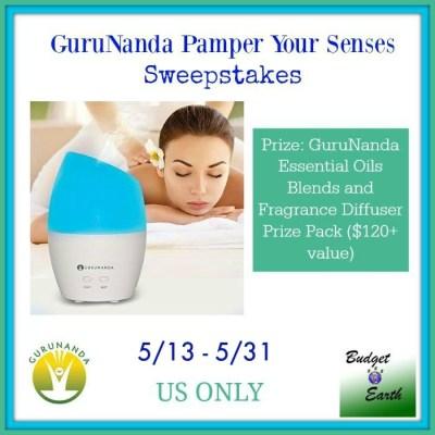 GuruNanda Pamper Your Senses Sweepstakes {US   Ends 05/30}