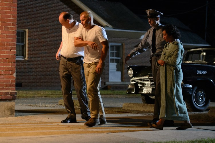Joel Edgerton (2nd from left) stars as Richard and Ruth Negga (right) stars as Mildred in Jeff Nichols LOVING, a Focus Features release. Credit : Ben Rothstein / Focus Features