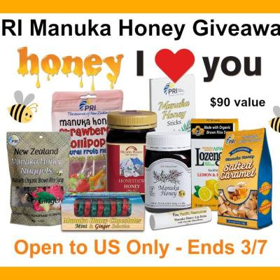 PRI Manuka Honey Giveaway {US | Ends 03/07}