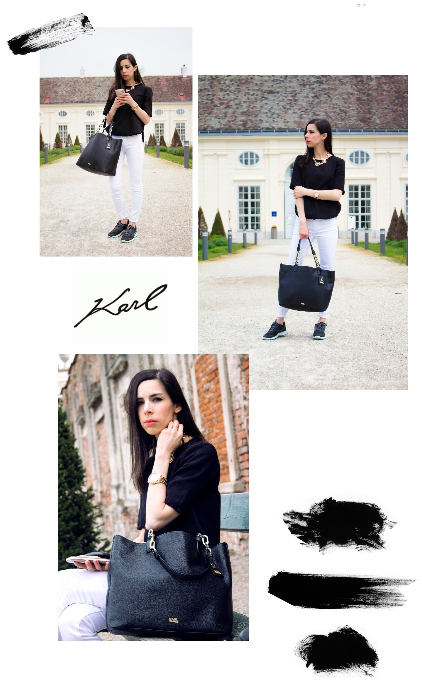 Karl Lagerfeld black and whit outfit 2