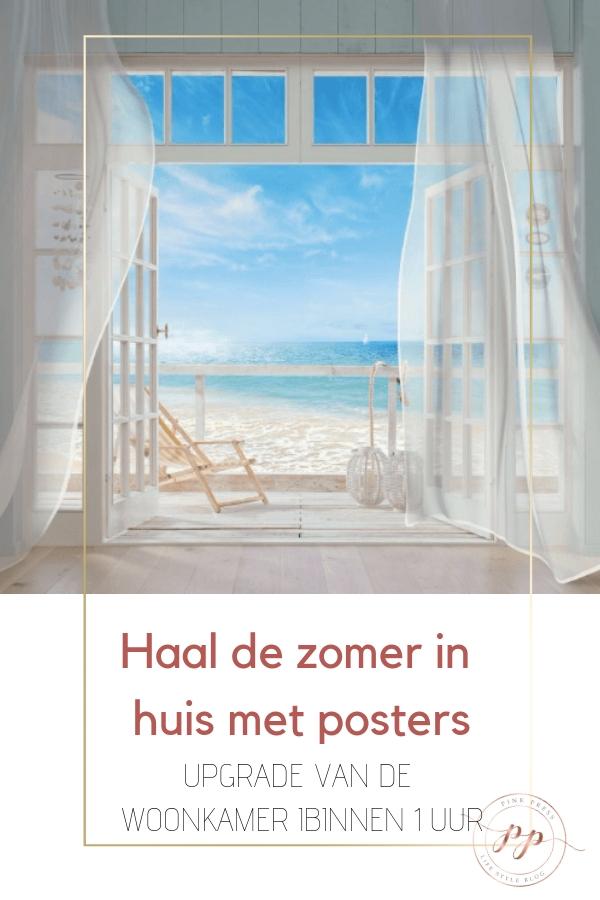 interieur zomer in huis met posters - De zomer in huis met posters?