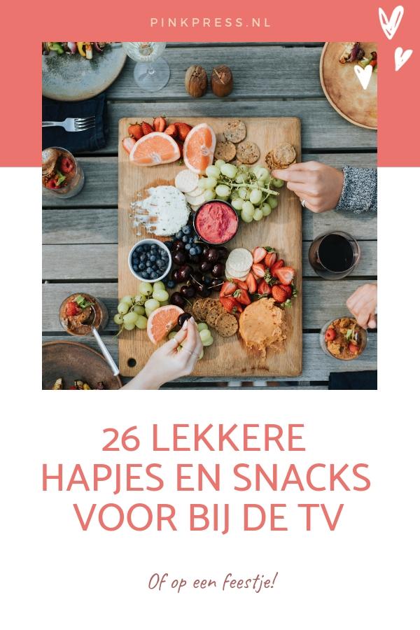 gezonde en lekkere snacks - 26 Lekkere hapjes en snacks voor op een feestje, of bij de TV.
