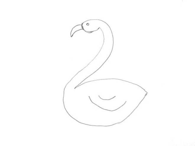 Flamingo tekenen met Sien en Co knutselblog voor Mommy loves Pink de details - DIY de Roze Flamingo