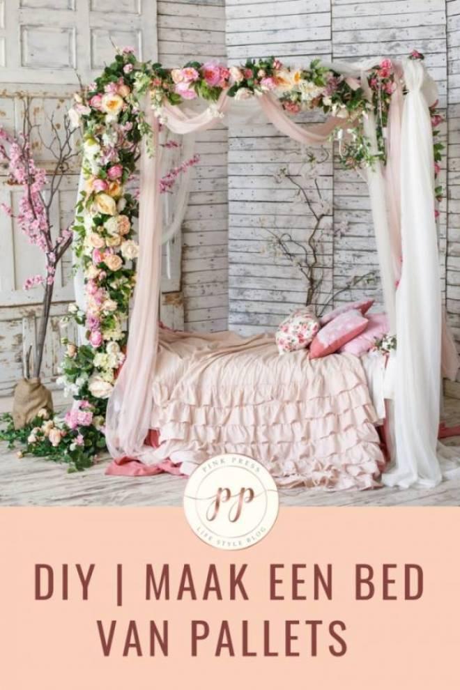 diy maak je eigen bed van pallets - DIY bed maken: palletbed van steigerhout